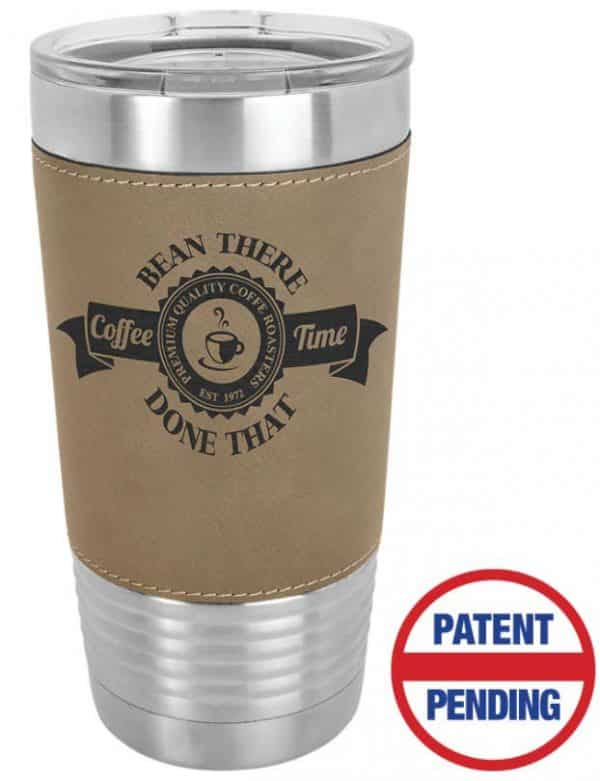 Brown Leatherette Tumbler