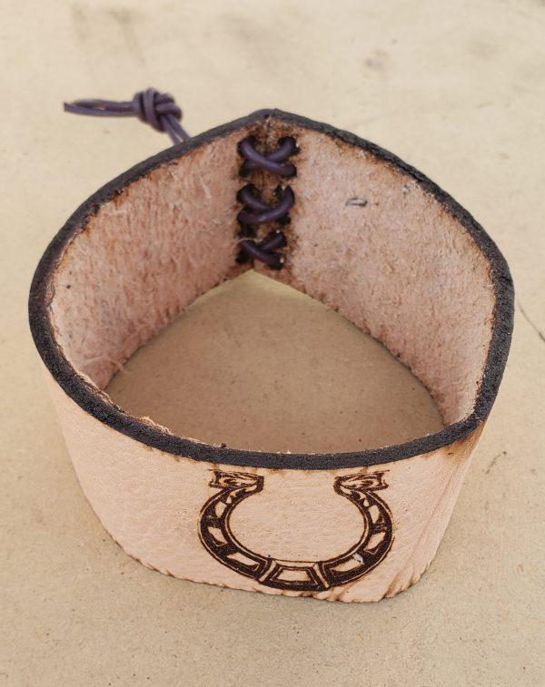 Leather Cover with Horseshoe