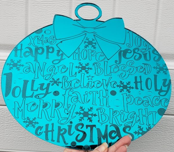 Mirrored Christmas Ornament Front