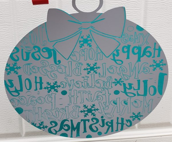 Mirrored Christmas Ornament Back