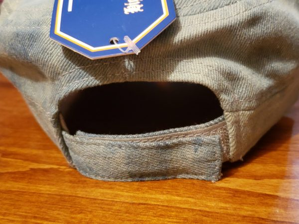 Back of hat with Velcro