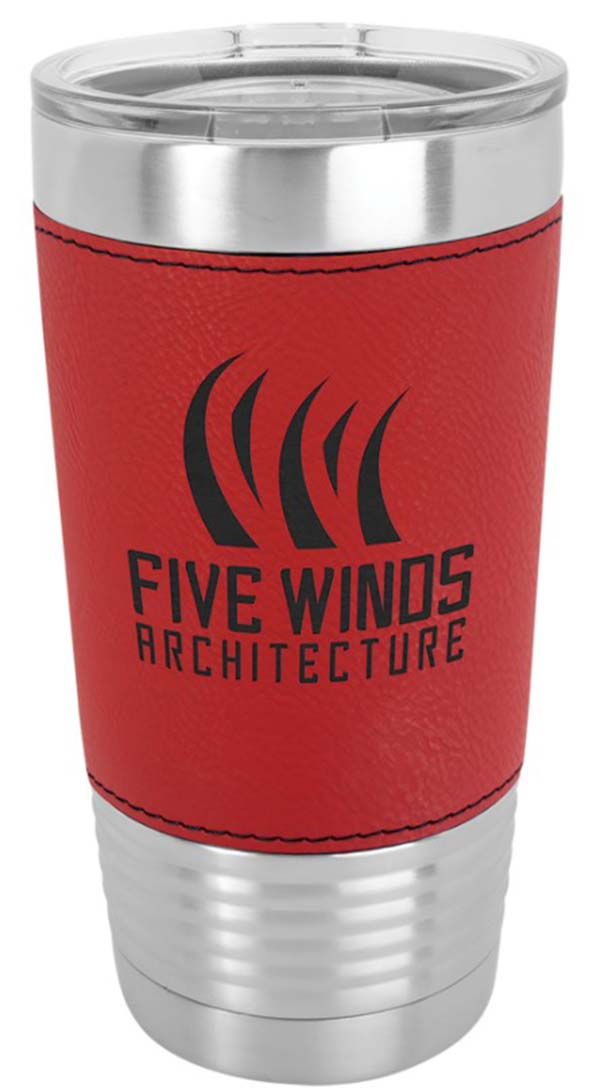 Red Leatherette Tumbler