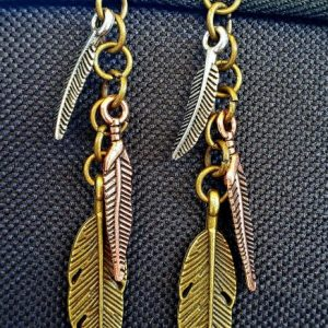 Tricolor Feather Earrings